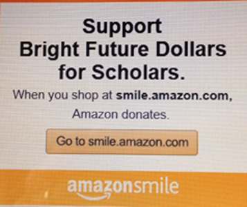 AmazonSmile logo for Bright Future