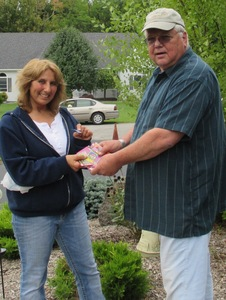 Ms Kathy Barone is winner of this years lottery