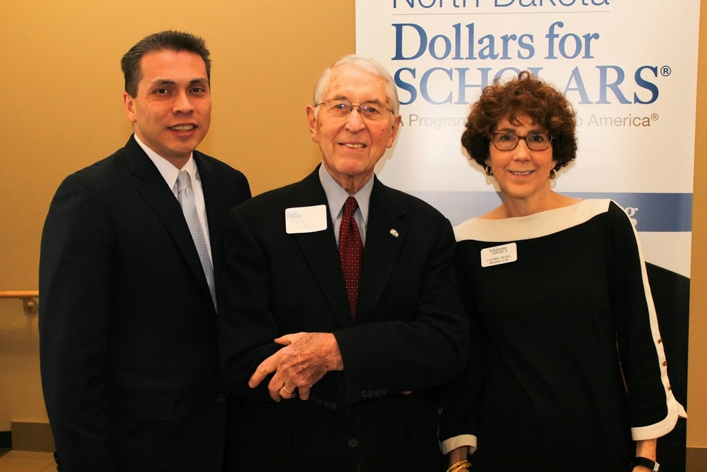 Max Espinoza, Senior VP, Bob Allen, and Lauren Segal, Scholarship America